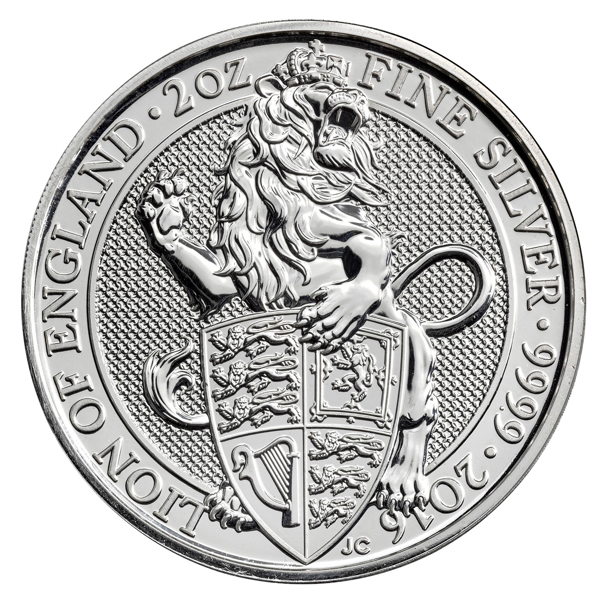 2016 Great Britain 5 Pound 2 oz. Silver Queen's Beasts - Lion
