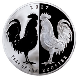 Tokelau Mirror Rooster Coin Reverse