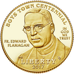 Boys Town Commemorative Gold Half Eagle Design