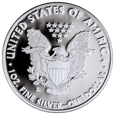 2017-S Proof Silver Eagle Reverse