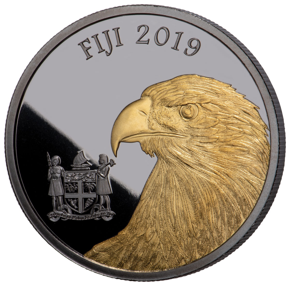 Fiji Blackened Eagle Coin
