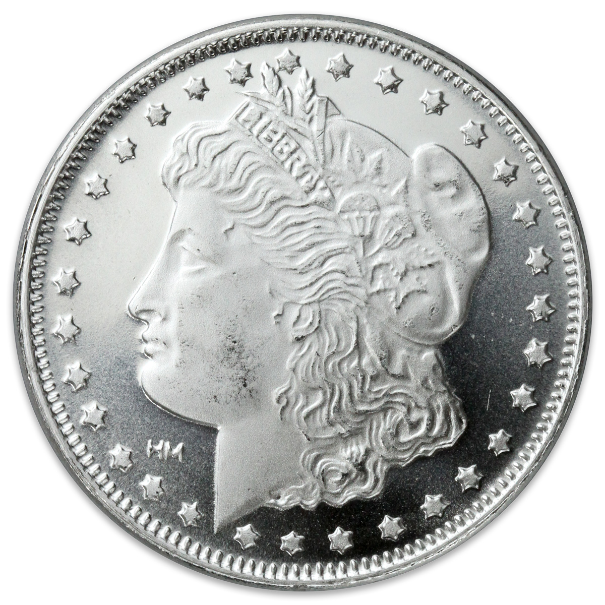 1 oz. Silver Morgan Round