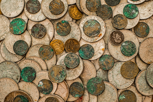 Tarnished Silver Coins
