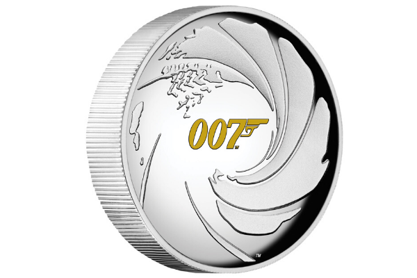 Perth Mint High Relief Silver James Bond 007 Coin
