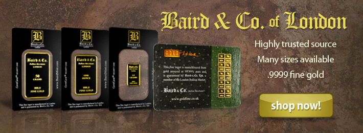 Buy Baird & Co. Gold Bars Now!